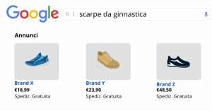 vendere online con Google Shopping